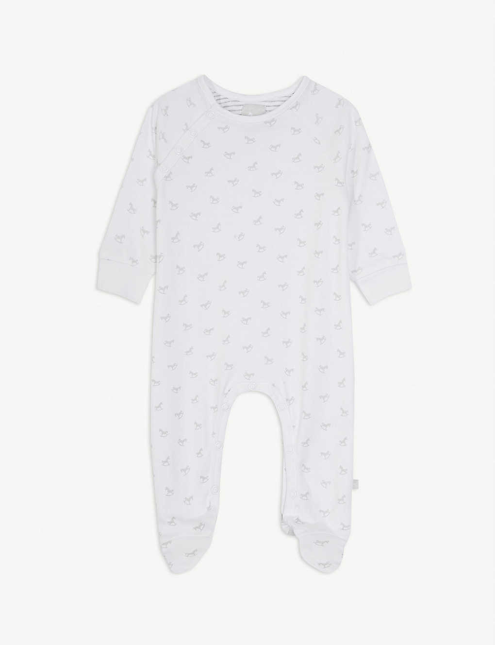THE LITTLE TAILOR: Rocking horse cotton sleepsuit 0-18 months
