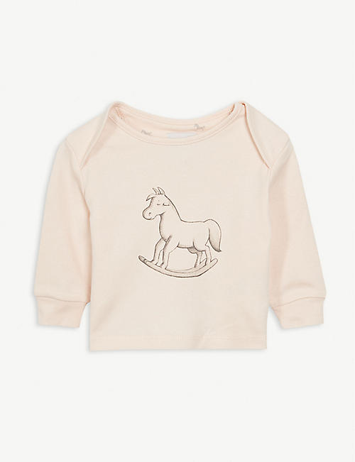 THE LITTLE TAILOR: Rocking horse cotton top 0-18 months
