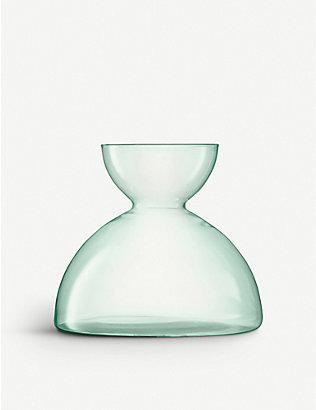 LSA: Canopy recycled glass vase 18cm
