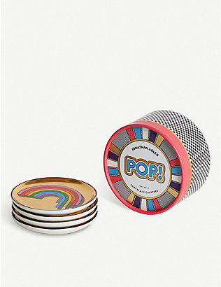 JONATHAN ADLER: Pop! Coasters set of four