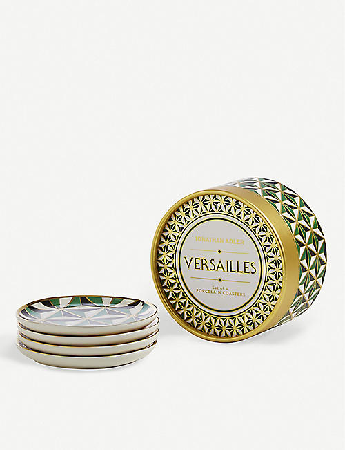 JONATHAN ADLER: Versailles Coasters set of four