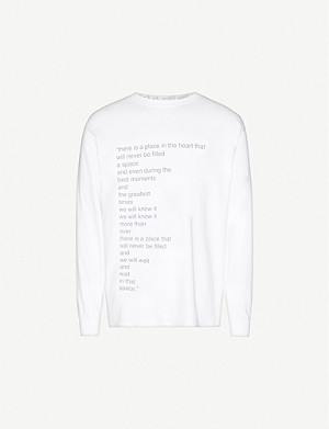 FAMT There Is A Place crewneck cotton-jersey T-shirt