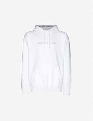 FAMT Don't Grow Up cotton-jersey hoody