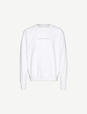 FAMT New Haters cotton-jersey sweatshirt