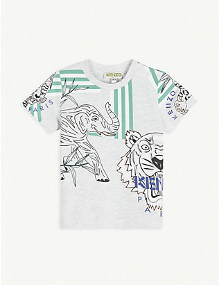 KENZO: Cotton graphic-print T-shirt 6-36 months