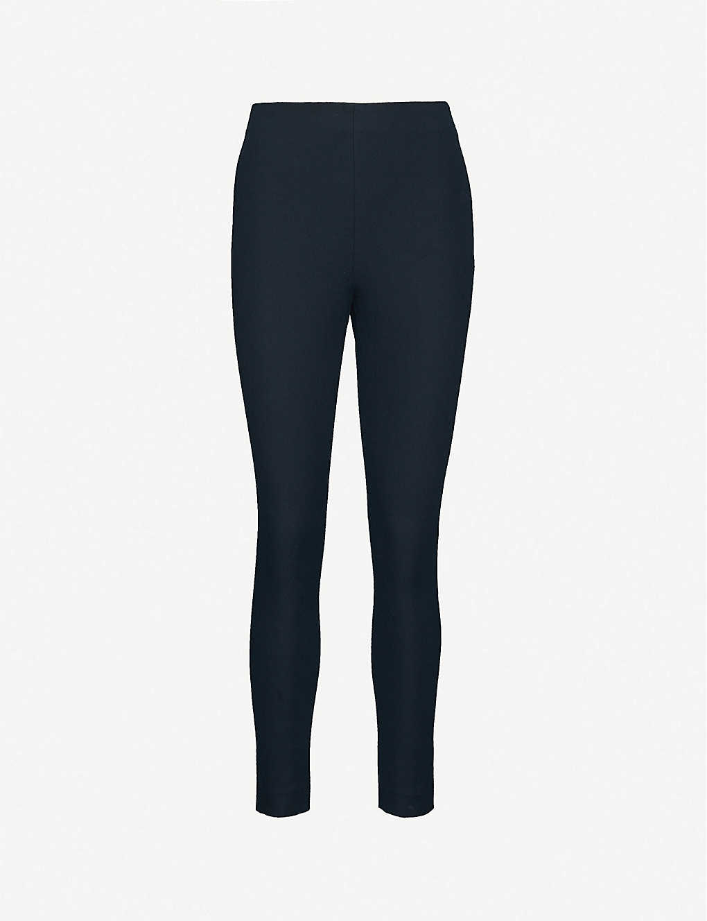 WHISTLES: Tapered high-rise stretch-jersey trousers