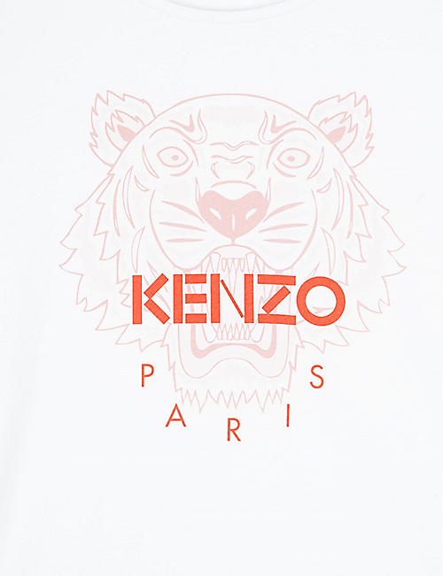 KENZO Cotton logo print T-shirt 4-12 years