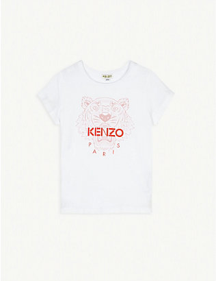 KENZO: Cotton logo print T-shirt 4-14 years