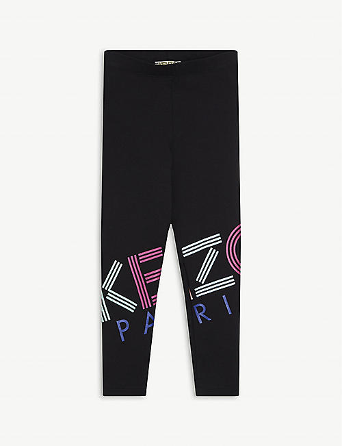 KENZO Logo print cotton-blend leggings 4-14 years