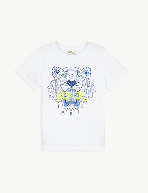 KENZO Tiger logo-print cotton T-shirt 2-16 years