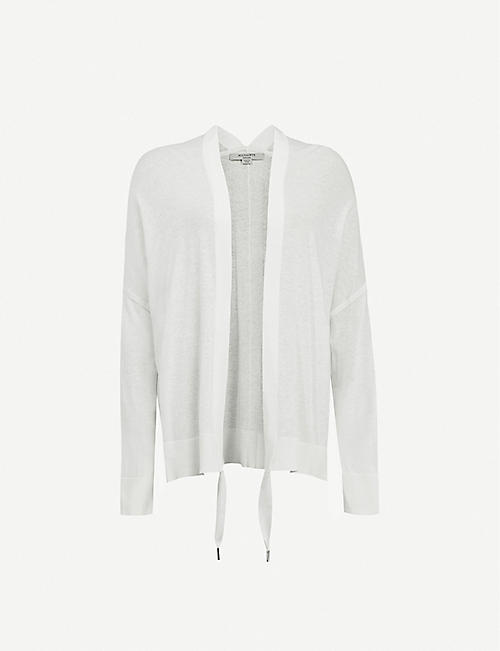 ALLSAINTS: Ronnie drawstring-neckline cotton-blend cardigan