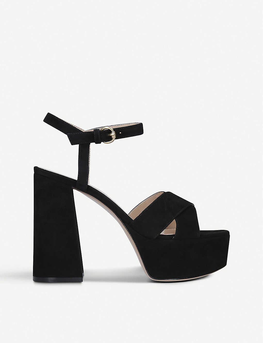 GIANVITO ROSSI: Bebe 70 suede heeled sandals