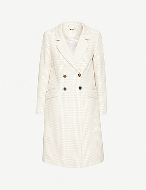 TED BAKER Checked double-breasted woven coat