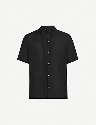 ALLSAINTS: Solana relaxed-fit crepe shirt