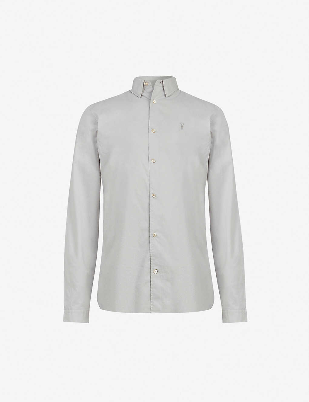 ALLSAINTS: Lindholm slim-fit cotton shirt