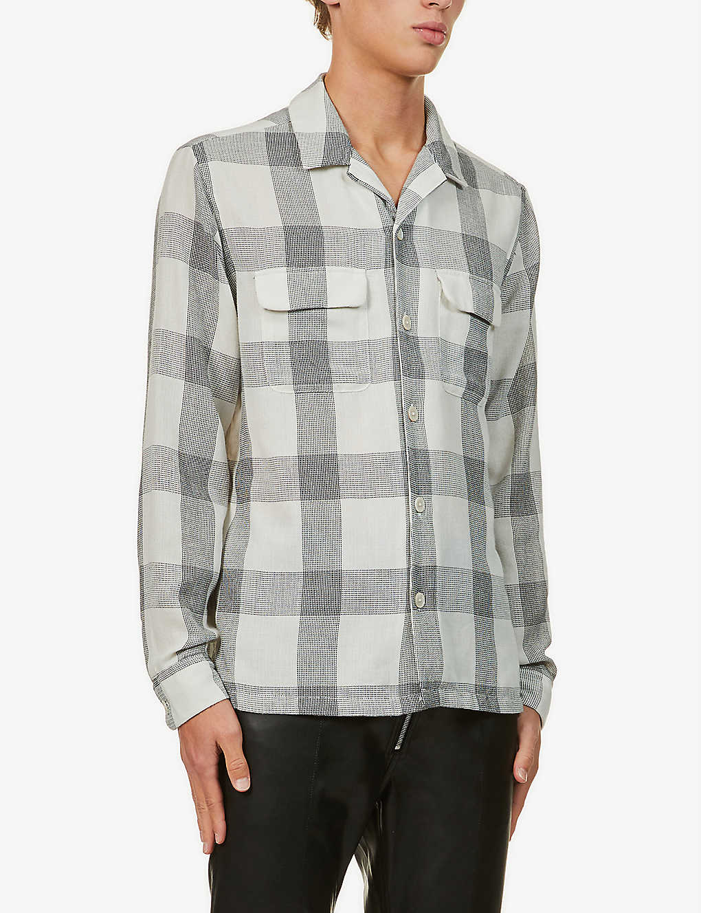 ALLSAINTS: Cammargo checked relaxed-fit woven shirt