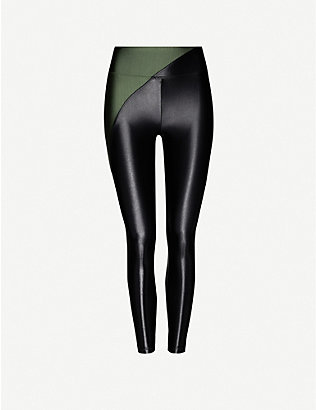 KORAL: Chase contrast-panel faux-leather leggings