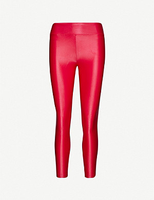 KORAL Lustrous high-shine stretch-jersey leggings
