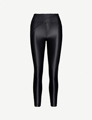 KORAL Chase Meia textured-panel stretch-jersey leggings