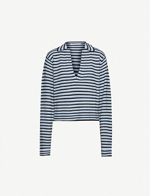 GEORGIA ALICE Polo-neck stretch-knit jumper