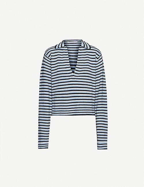 GEORGIA ALICE: Polo-neck stretch-knit jumper