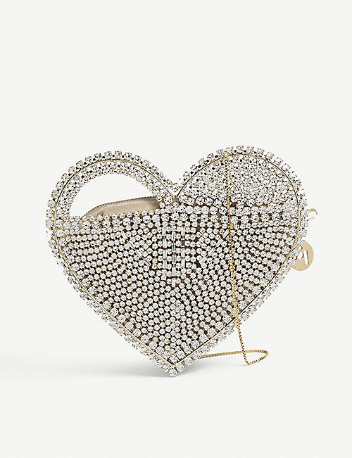 ROSANTICA Regina crystal heart shoulder bag