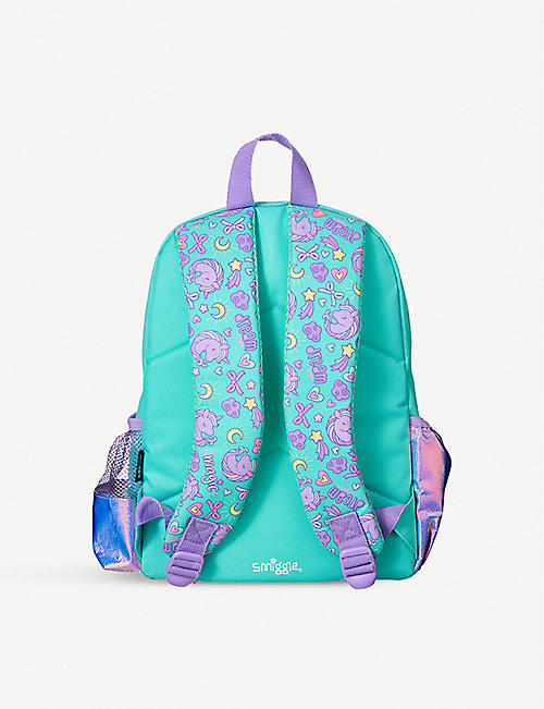 SMIGGLE Wander Junior woven unicorn backpack