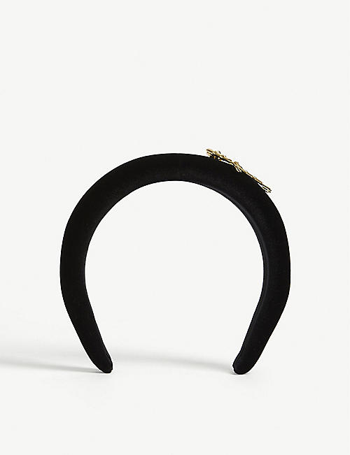 VERSACE: Safety pin detail headband