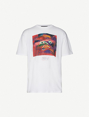 KSUBI Graphic-print cotton-jersey T-shirt