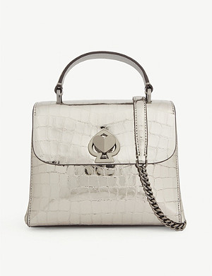 KATE SPADE NEW YORK Romy croc-embossed leather mini tote