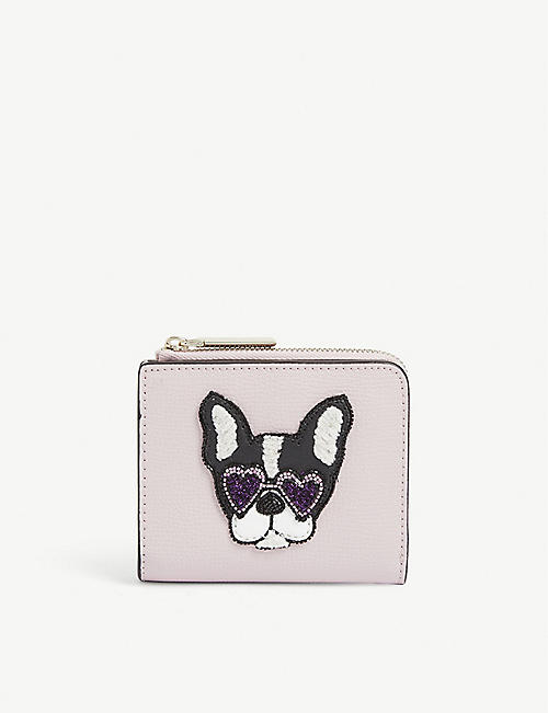 KATE SPADE Sylvia Francois dog leather purse