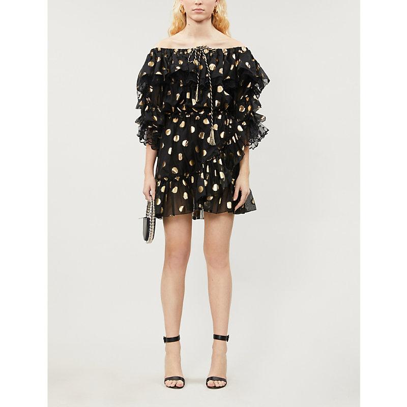Dundas Dresses POLKA DOT SILK-BLEND MINI DRESS