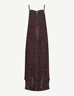 ROTATE BIRGER CHRISTENSEN Sandy leopard-print pleated crepe suit
