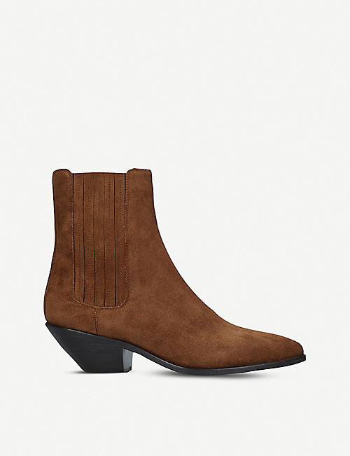 SAINT LAURENT: West 45 suede Chelsea boots