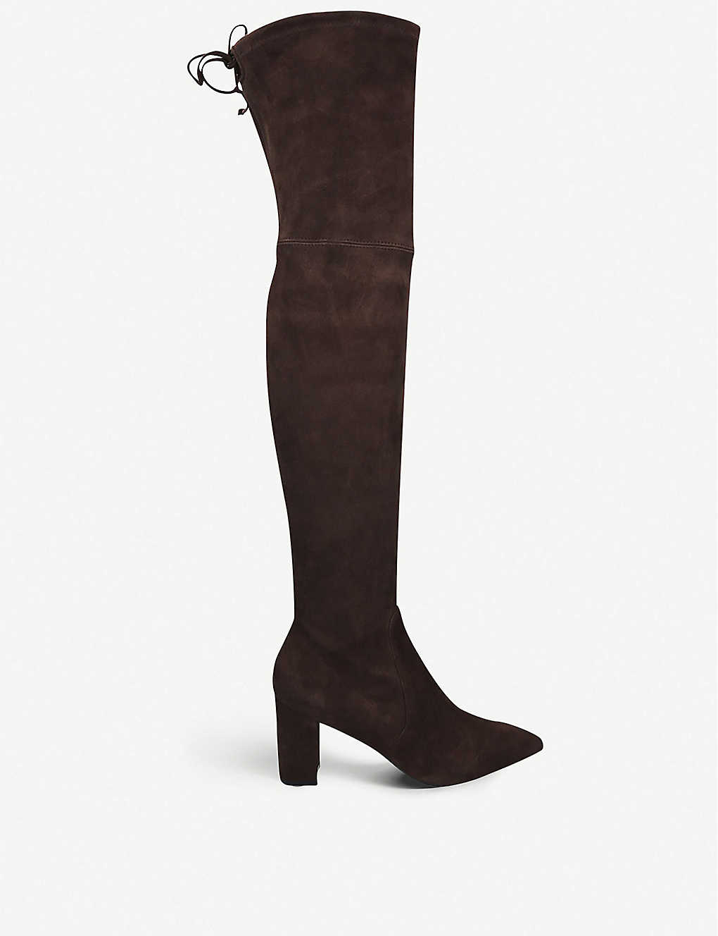 STUART WEITZMAN: Lesley 75 stretch-suede over-the-knee boots