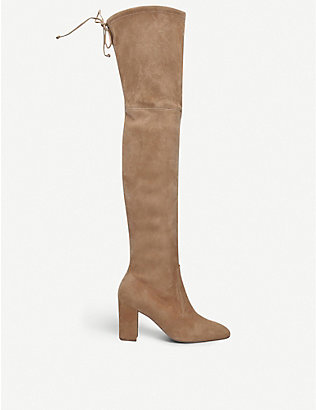 STUART WEITZMAN: Zuzanna 80 stretch-suede over-the-knee boots