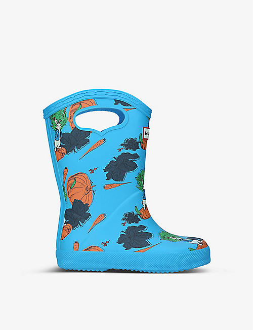 HUNTER: Peter Rabbit synthetic pull-on handle wellington boots