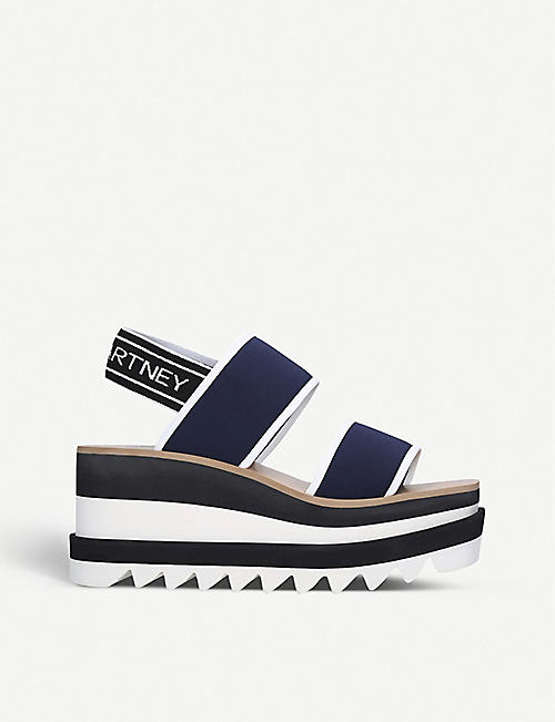 STELLA MCCARTNEY Sneak Elyse nylon flatform sandals