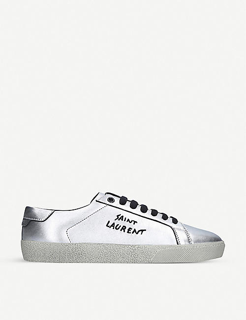 SAINT LAURENT: Court classic leather trainers