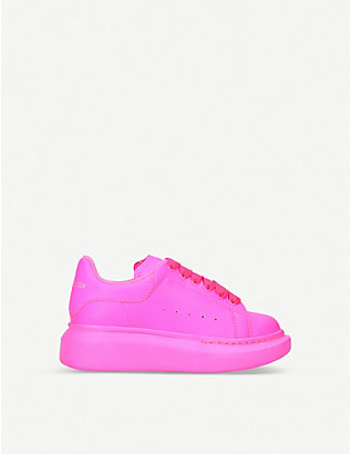 ALEXANDER MCQUEEN: Runway leather trainers 4-8 years