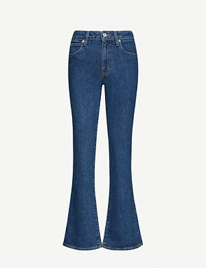 SLVRLAKE Crystal flared high-rise jeans