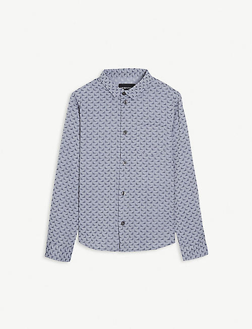 EMPORIO ARMANI Logo cotton shirt 4-16 years