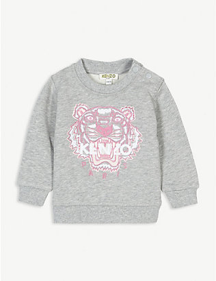KENZO: Icon tiger cotton sweatshirt 6-36 months