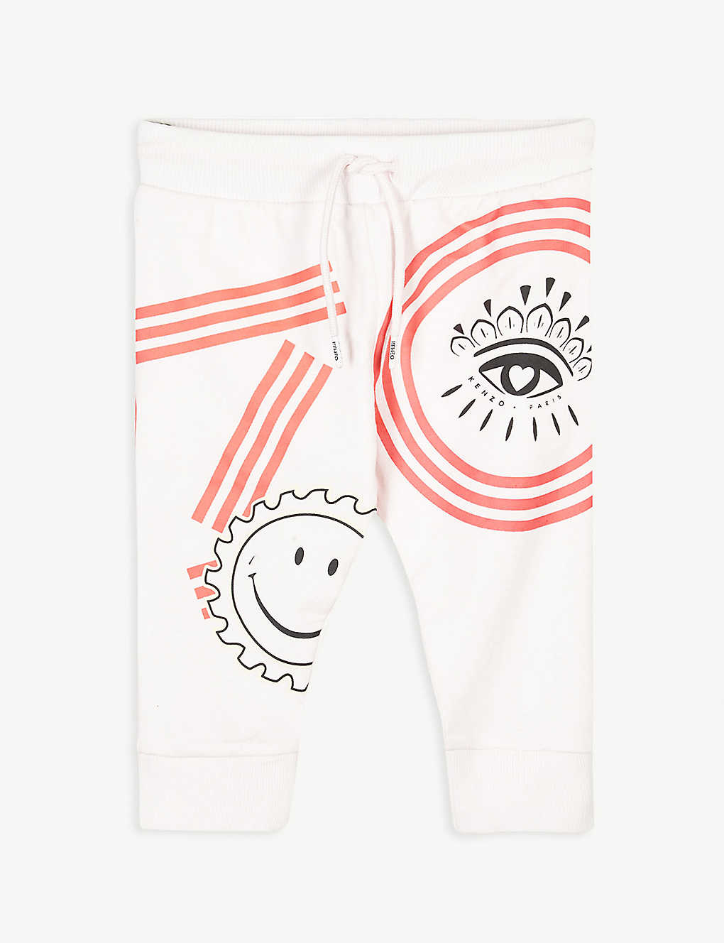KENZO: Ice cream print cotton jogging bottoms 6-36 months