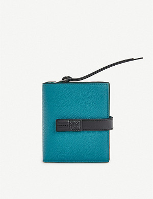 LOEWE Compact zip leather wallet