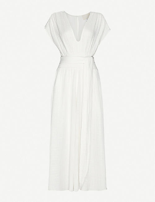 ANAAK: Anneka wide-leg cotton-muslin jumpsuit
