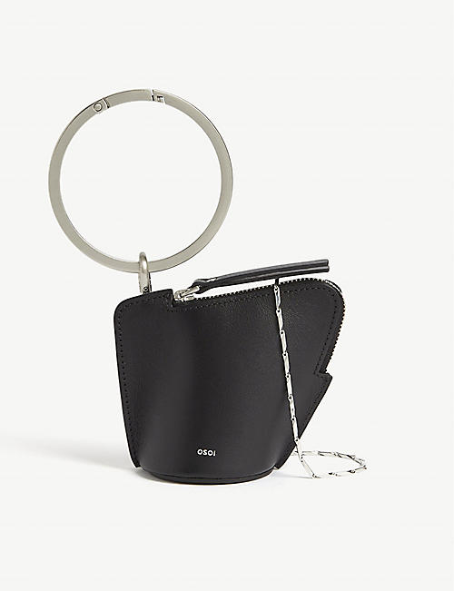 OSOI: Banglering leather three-in-one pouch