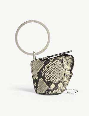 OSOI Banglering croc-embossed leather three-in-one bag
