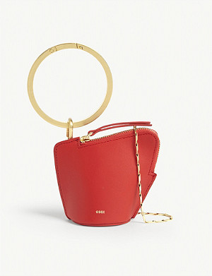 OSOI Banglering leather three-in-one pouch