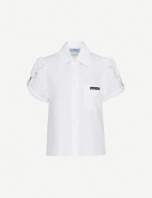 PRADA Puffed-sleeve cotton shirt